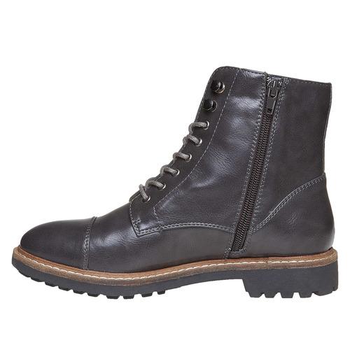 Scarpe da donna sopra la caviglia bata, grigio, 591-2509 - 19