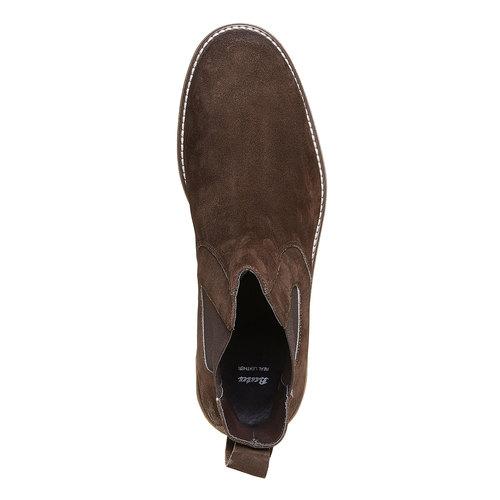 Scarpe da uomo in stile Chelsea bata, marrone, 893-4222 - 19