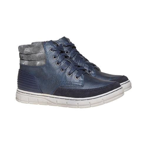 Sneakers da bambino alla caviglia mini-b, blu, 391-9257 - 26