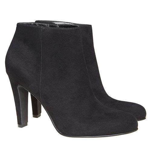 Scarpe alla caviglia con tacco alto bata, nero, 799-6527 - 26