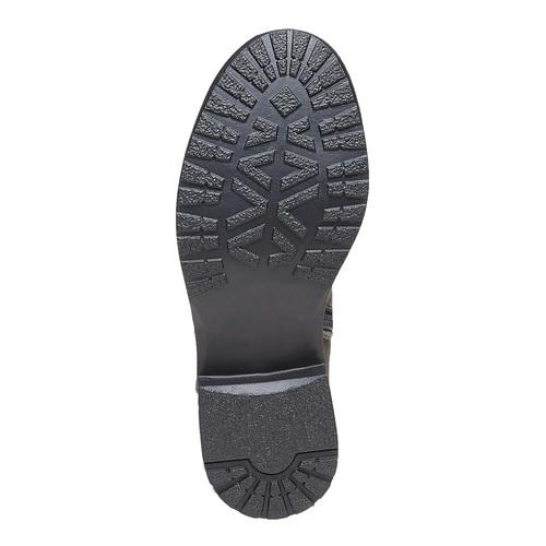 Stivali grigi da ragazza con strass mini-b, grigio, 391-2305 - 26