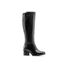 Stivali da donna con tacco stabile bata, nero, 694-6361 - 13