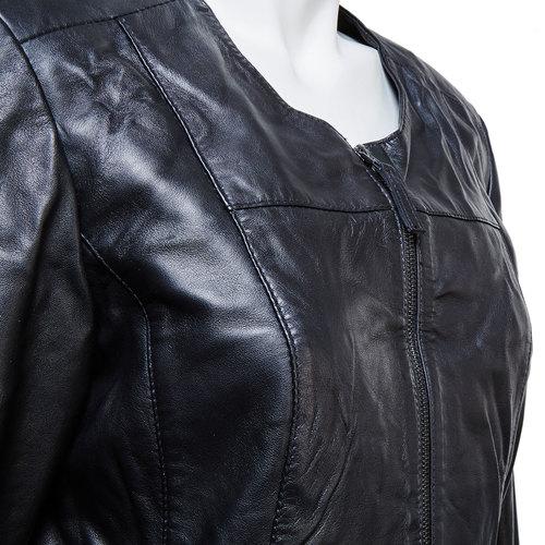 Giacca nera da donna in pelle bata, nero, 974-6173 - 16