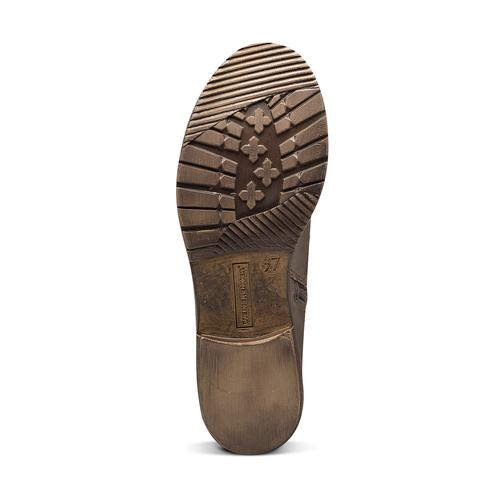 Scarpe di pelle alla caviglia weinbrenner, marrone, 594-4874 - 17