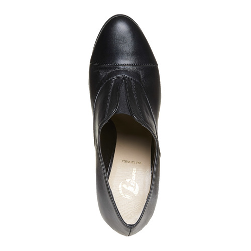 Scarpe alla caviglia con tacco stabile bata, nero, 724-6476 - 19