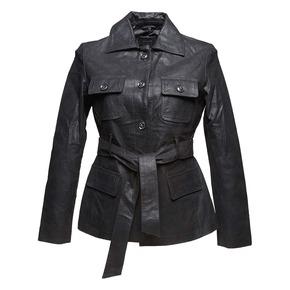 Giacca da donna con cintura bata, nero, 973-6115 - 13