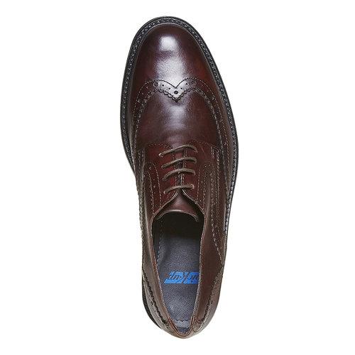 Scarpe basse Derby da uomo in pelle, marrone, 824-4836 - 19