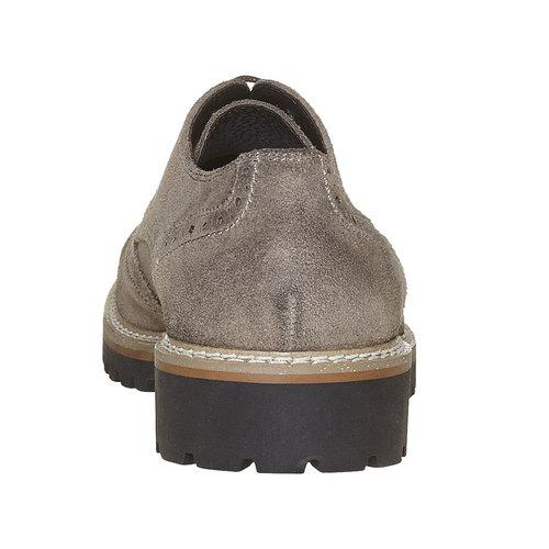 Scarpe basse da uomo in stile Derby bata, grigio, 823-2177 - 17