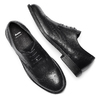 Scarpe basse di pelle in stile Derby bata, nero, 824-6429 - 19