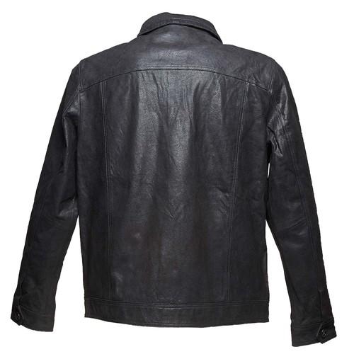 Giacca da uomo in pelle bata, nero, 973-6110 - 26