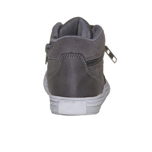 Sneakers di pelle alla caviglia mini-b, grigio, 313-2236 - 17