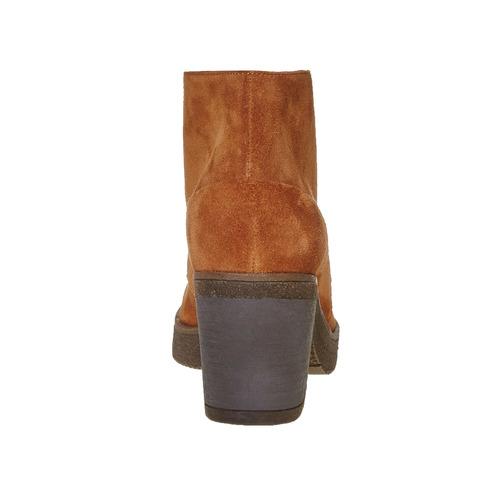 Scarpe da donna in pelle alla caviglia bata, marrone, 693-3381 - 17