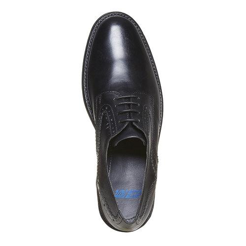 Scarpe basse Derby da uomo in pelle, nero, 824-6843 - 19