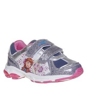 Sneakers da ragazza con chiusure a velcro, grigio, 221-2172 - 13