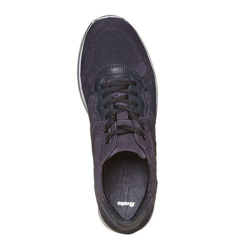 Sneakers eleganti in pelle bata, viola, 843-9685 - 19