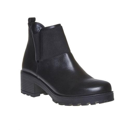 Scarpe di pelle alla caviglia da donna bata, nero, 694-6309 - 13