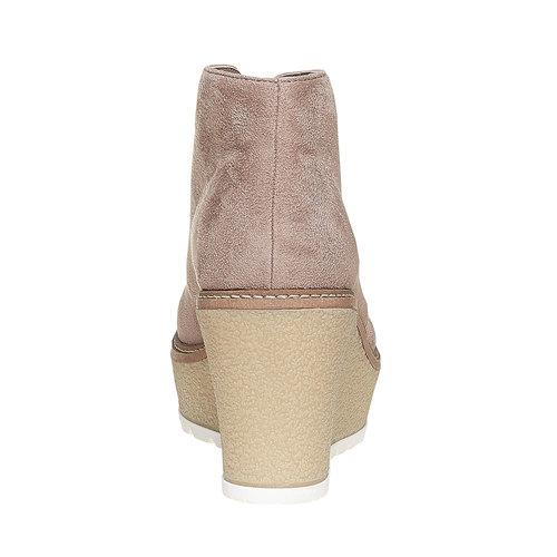 Scarpe da donna alla caviglia con plateau bata, grigio, 799-2254 - 17