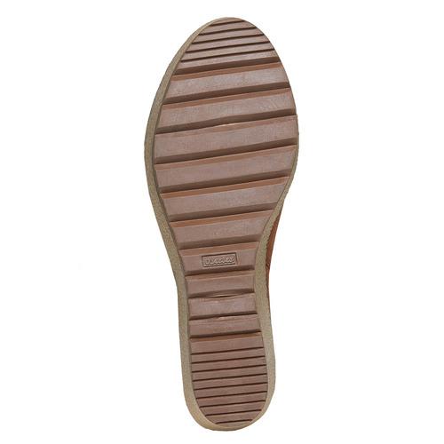 Scarpe alla caviglia con plateau alto bata, marrone, 799-3200 - 26