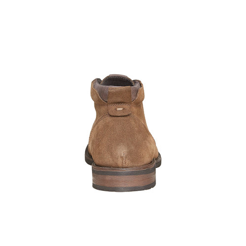 Scarpe da uomo in pelle Chukka bata, marrone, 823-4533 - 17