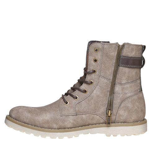 Scarpe da uomo alla caviglia bata, grigio, 891-2237 - 19