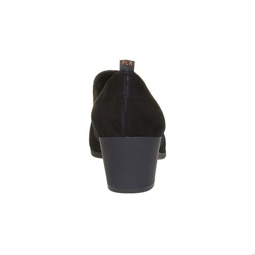 Scarpe basse di pelle con tacco flexible, nero, 613-6111 - 17