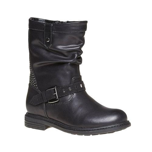 Stivali da ragazza con strass mini-b, nero, 291-6158 - 13