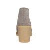 Stivaletti di pelle con tacco alto bata, grigio, 793-2484 - 17