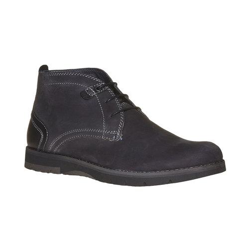 Chukka Boots da uomo in pelle bata, nero, 894-6630 - 13
