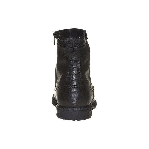 Scarpe in pelle alla caviglia bata, nero, 894-6311 - 17
