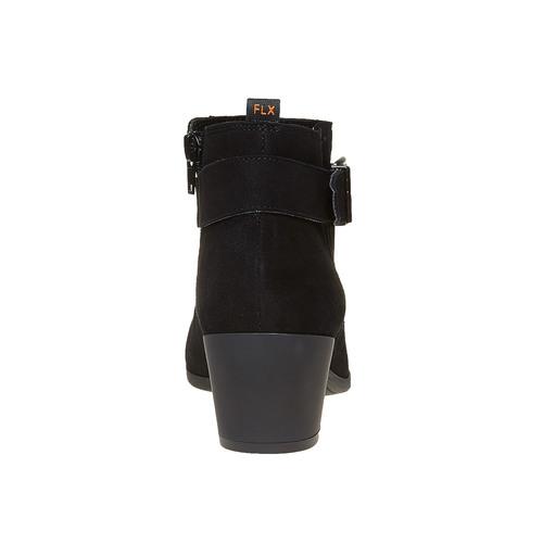 Stivaletti di pelle con fibbia flexible, nero, 693-6344 - 17