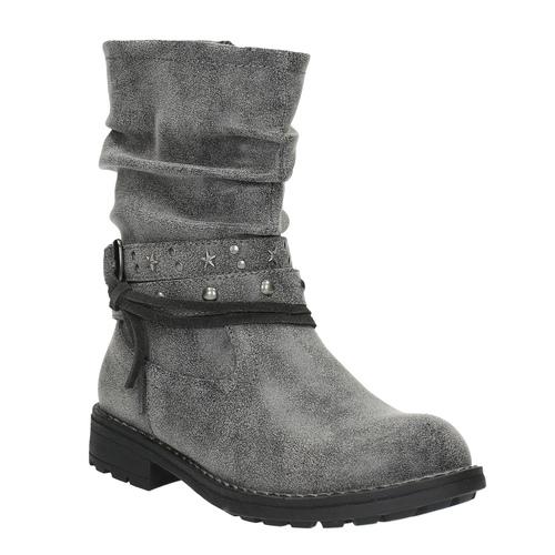 Stivali da bambina con fibbia mini-b, grigio, 391-2246 - 13