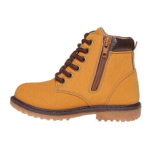 Scarpe da bambino alla caviglia mini-b, giallo, 291-8163 - 19