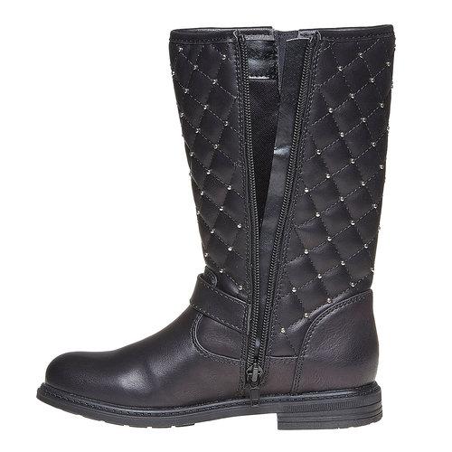 Stivali da ragazza con cuciture mini-b, nero, 391-6252 - 19