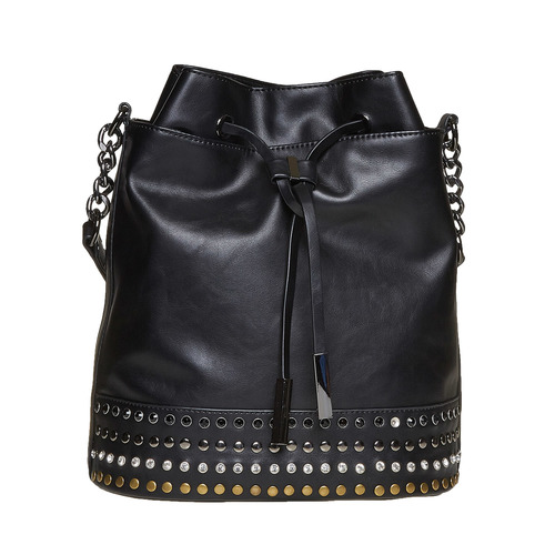 Borsetta in stile Bucket Bag bata, nero, 961-6126 - 26