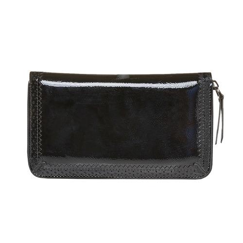 Portafoglio verniciato da donna bata, nero, 941-6141 - 26
