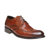 Scarpe basse di pelle con decorazione Brogue bata-the-shoemaker, marrone, 824-3182 - 13