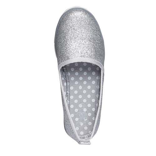 Slip-on da bambina con glitter mini-b, bianco, 329-1163 - 19