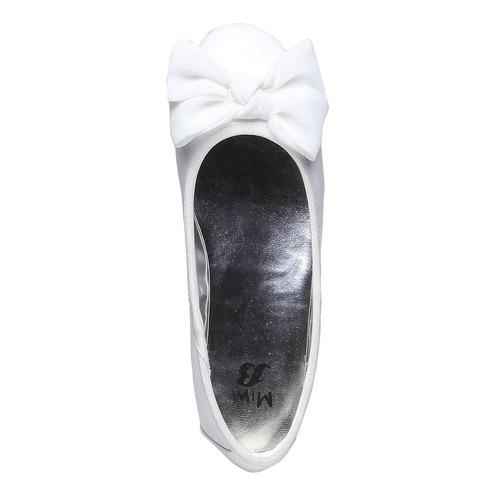 Ballerine da ragazza con fiocco mini-b, bianco, 321-1191 - 19
