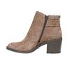 Scarpe da donna di pelle alla caviglia bata, marrone, 793-4542 - 19