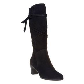Stivali in pelle da donna flexible, nero, 693-6358 - 13