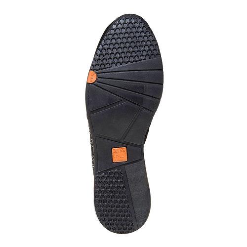 Sneakers in pelle da donna con strass flexible, nero, 524-6223 - 26