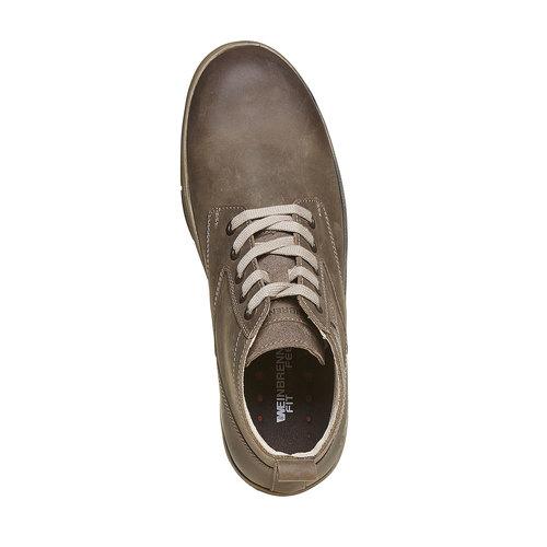 Sneakers da uomo in pelle weinbrenner, grigio, 894-2521 - 19