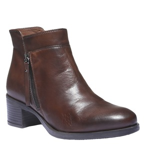 Scarpe di pelle alla caviglia bata, marrone, 694-4166 - 13