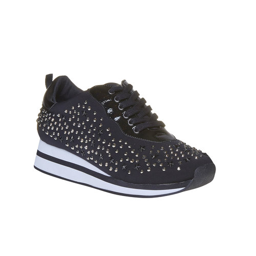 Sneakers da donna con plateau north-star, nero, 549-6139 - 13