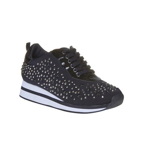Sneakers da donna con plateau north-star, nero, 549-6139 - 13