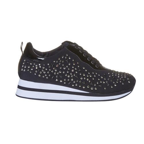 Sneakers da donna con plateau north-star, nero, 549-6139 - 15
