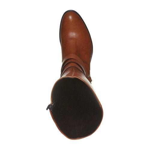 Stivali di pelle con fibbie bata, marrone, 594-3585 - 19