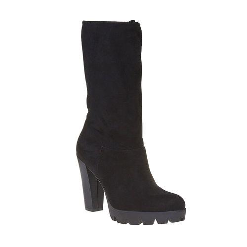 Stivali da donna con suola strutturata bata, nero, 799-6632 - 13