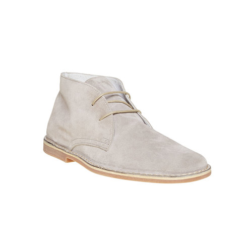 Scarpe scamosciate in stile Desert bata, grigio, 843-2267 - 13