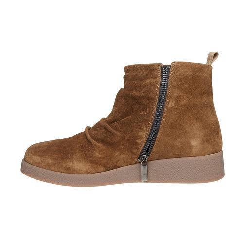 Scarpe in pelle da donna flexible, marrone, 593-3577 - 19
